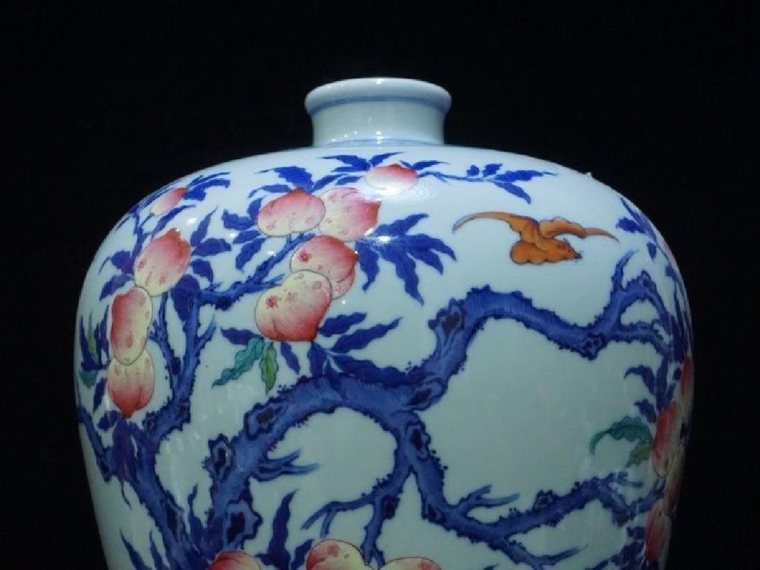 A Rare Famille Rose Porcelain Vase - 7