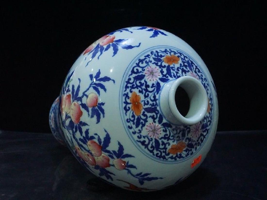 A Rare Famille Rose Porcelain Vase - 9