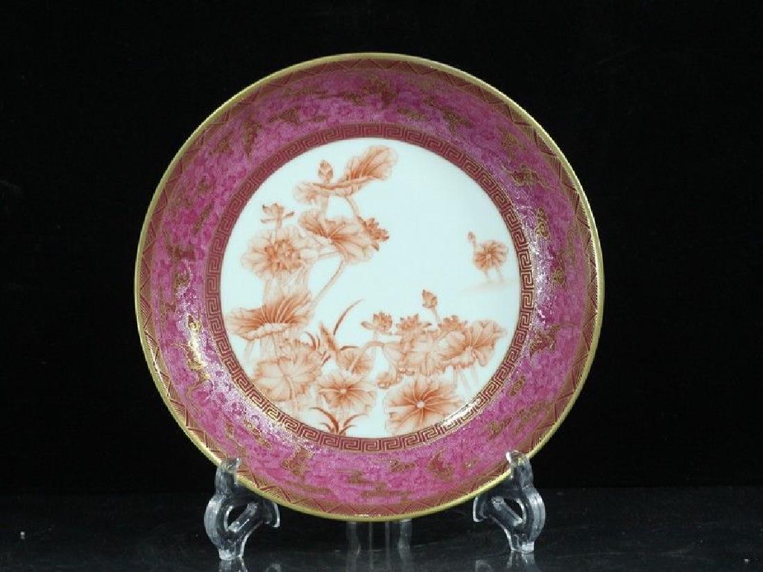 A Rare Famille Rose Porcelain Dish