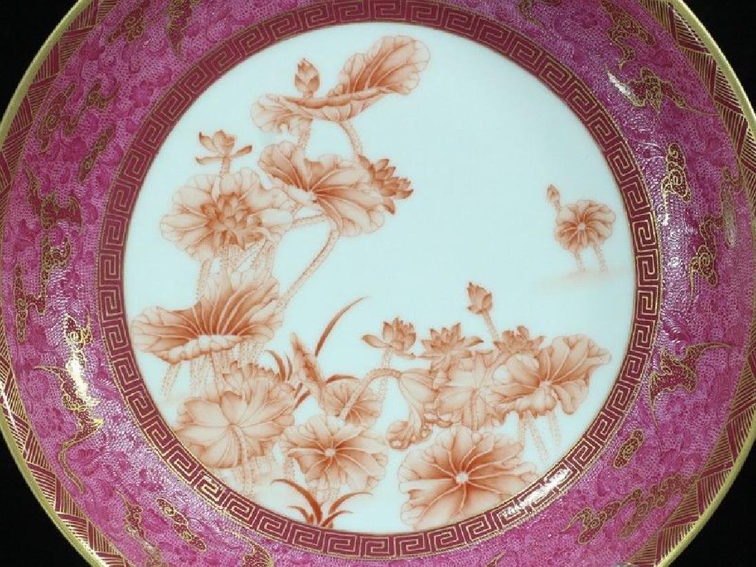 A Rare Famille Rose Porcelain Dish - 4