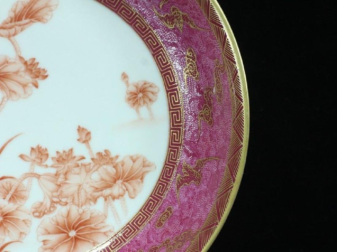 A Rare Famille Rose Porcelain Dish - 6