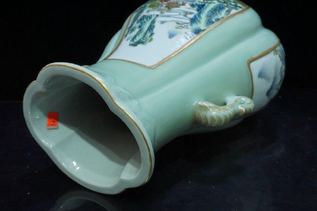 A Famille Rose Porcelain Vase - 8