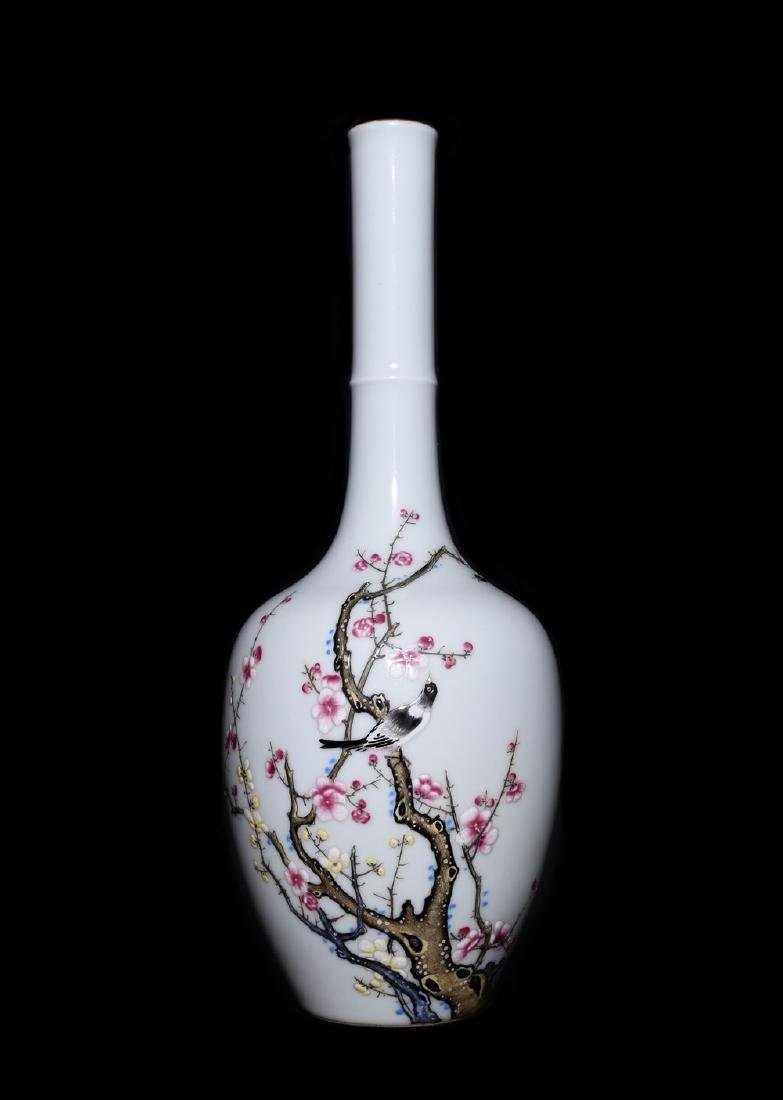 A Magnificent and Rare Famille Rose Porcelain Vase