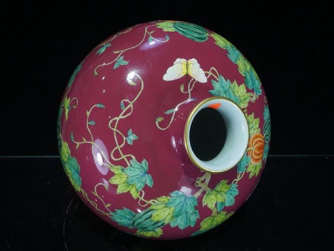 A Famille Rose Porcelain Vase - 9