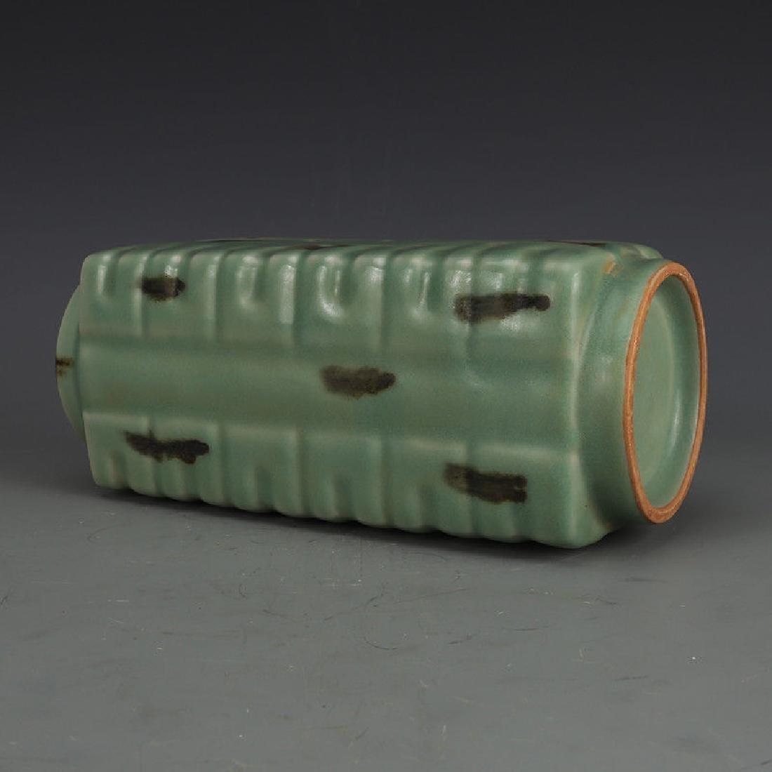 A Longquan Celadon Porcelain Vase - 4