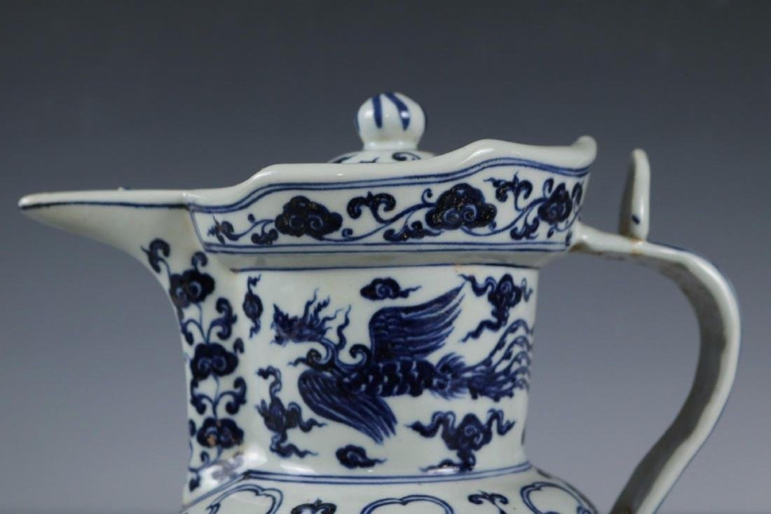 A Blue and White Porcelain Ewer - 2