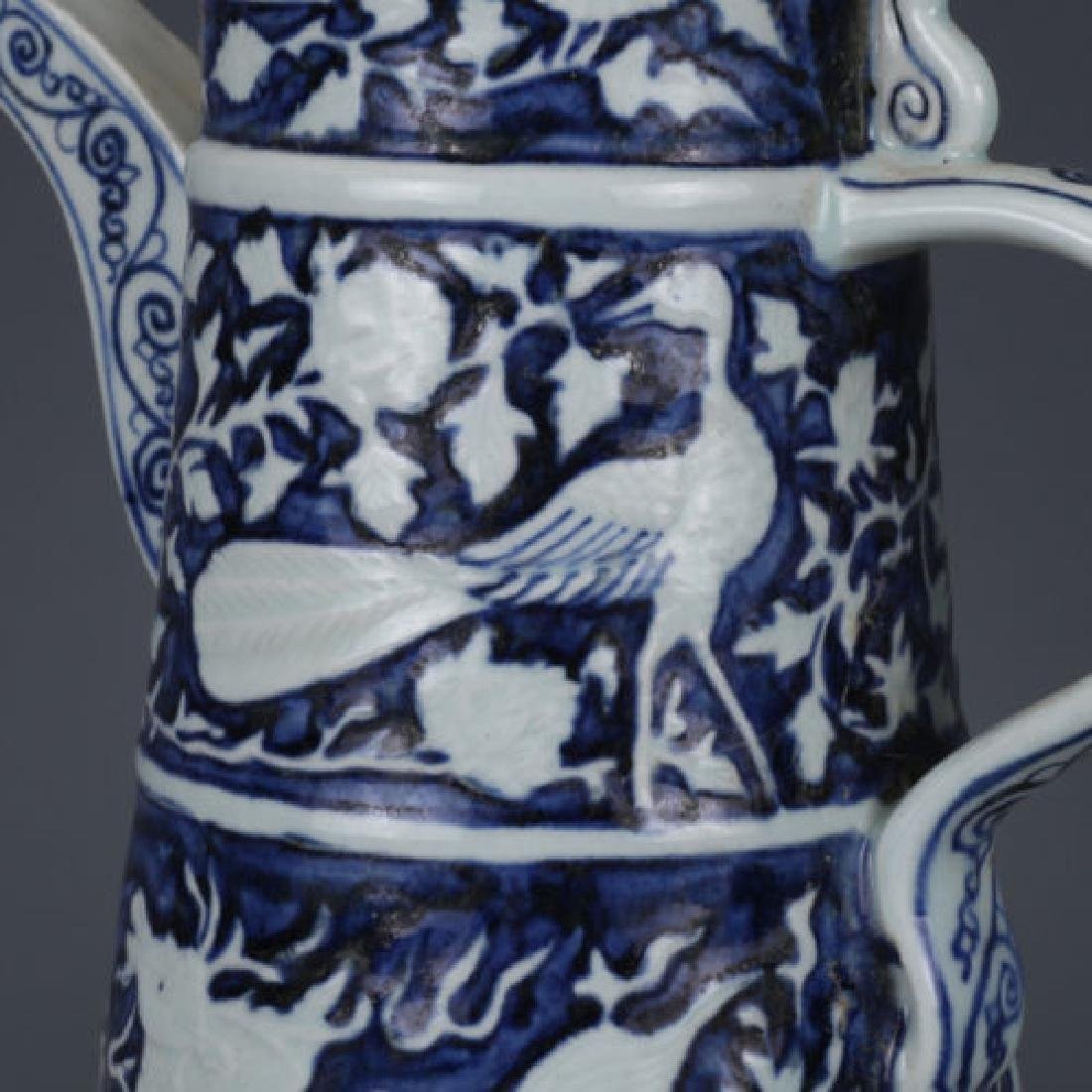 A Blue and White Porcelain Ewer - 7