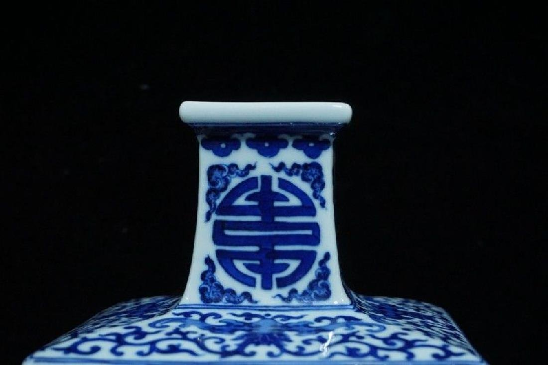 A Blue and White and Famille Rose Porcelain Vases - 2