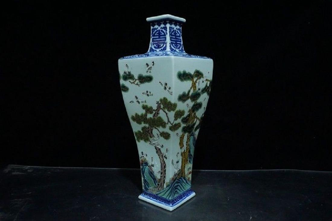 A Blue and White and Famille Rose Porcelain Vases - 5