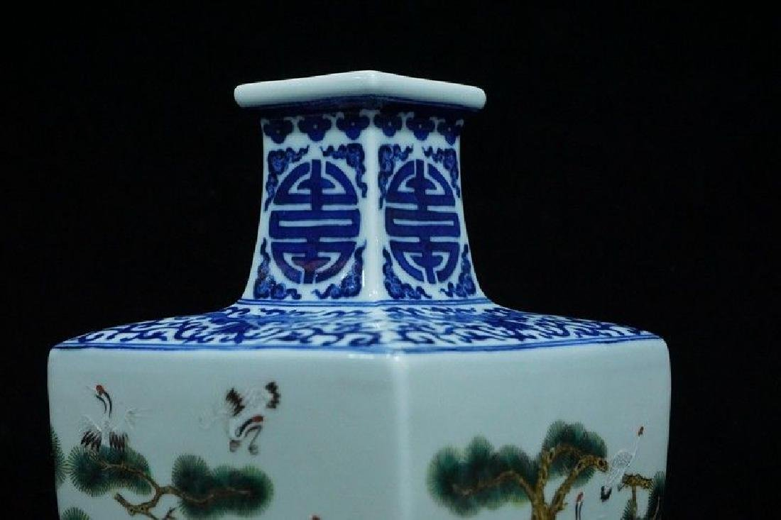 A Blue and White and Famille Rose Porcelain Vases - 6