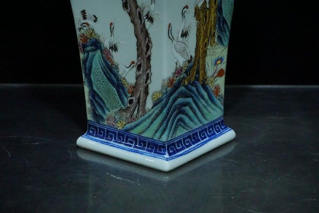 A Blue and White and Famille Rose Porcelain Vases - 8