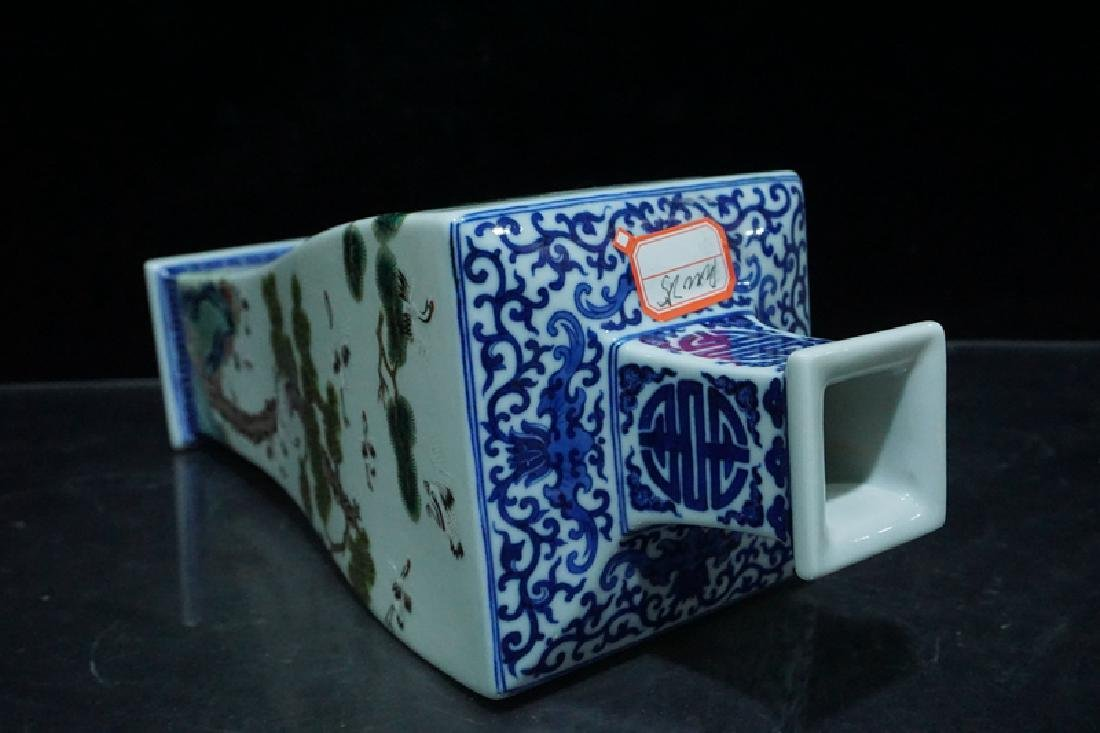 A Blue and White and Famille Rose Porcelain Vases - 9