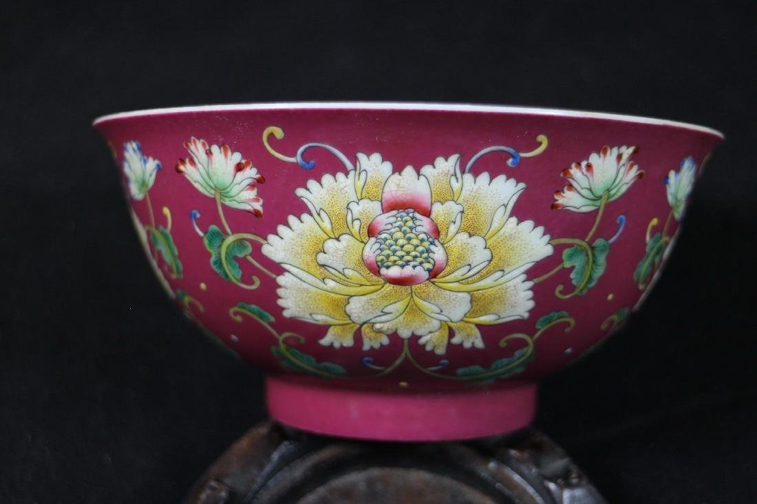 A Pair of Famille Rose Porcelain Bowls - 10