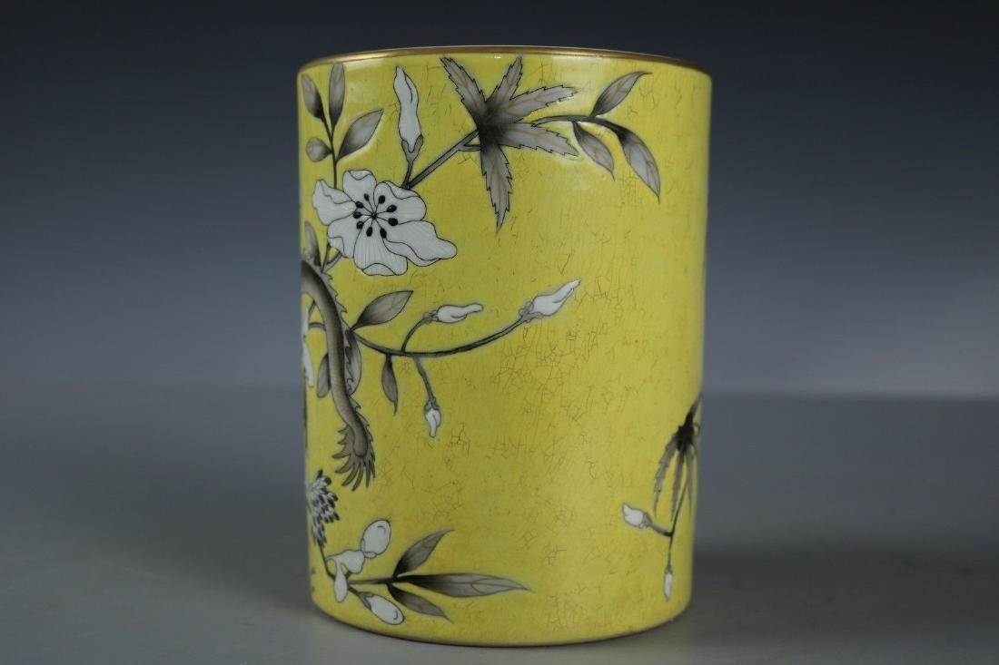 A Famille Rose Porcelain Pen Holder - 6