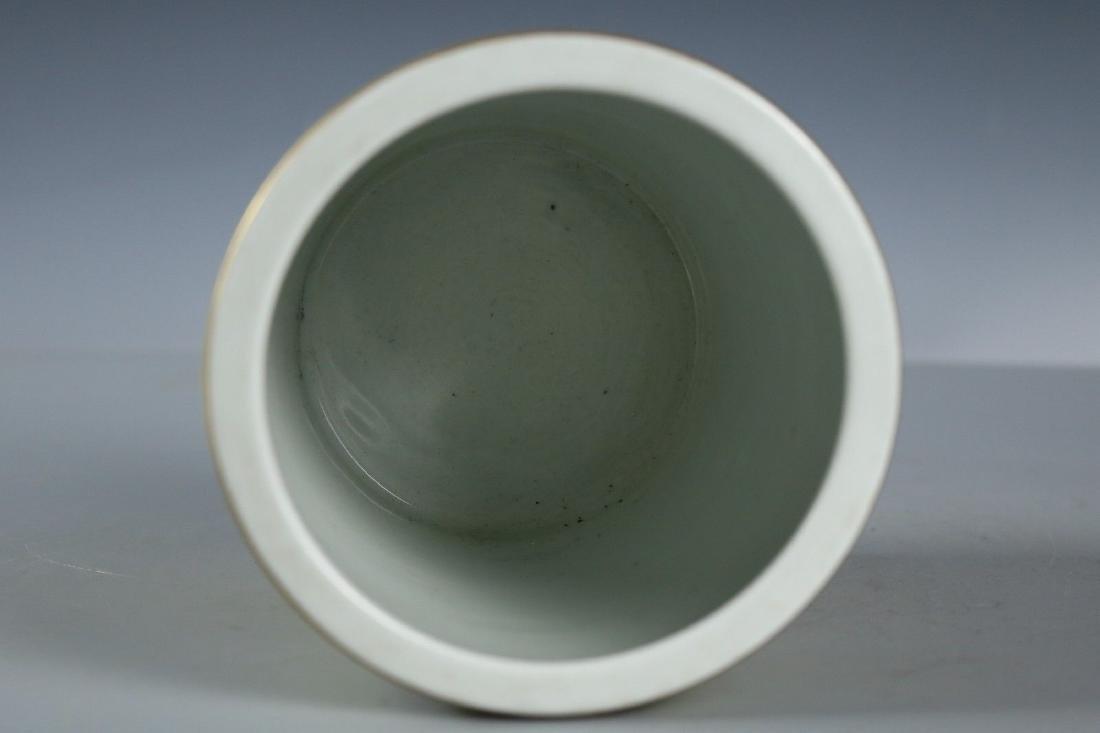 A Famille Rose Porcelain Pen Holder - 8