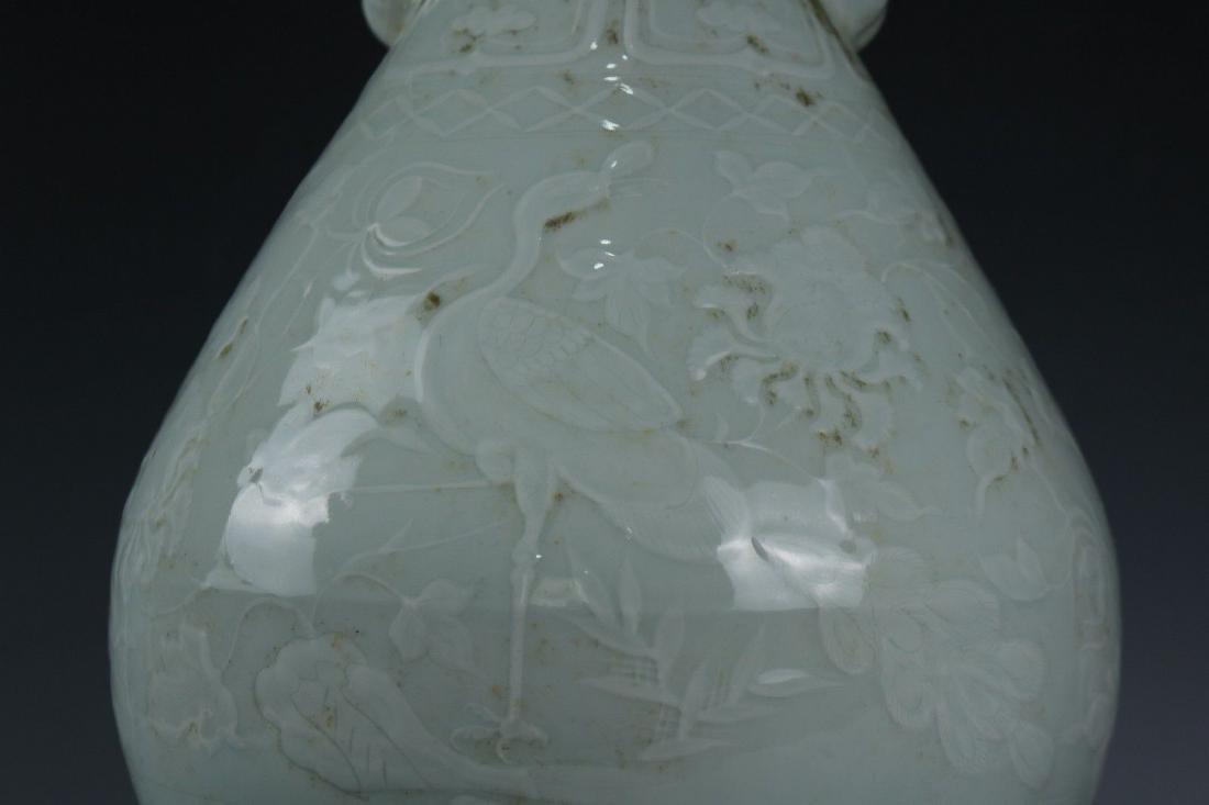 A White Glaze Porcelain Vase - 3