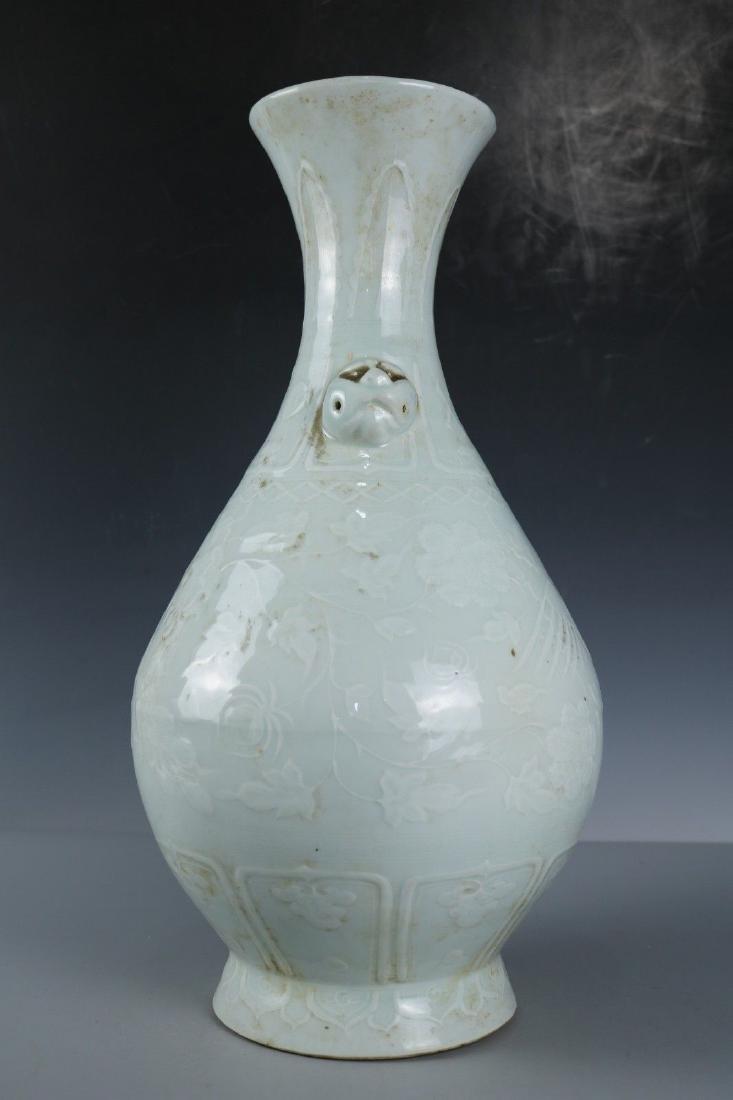 A White Glaze Porcelain Vase - 5