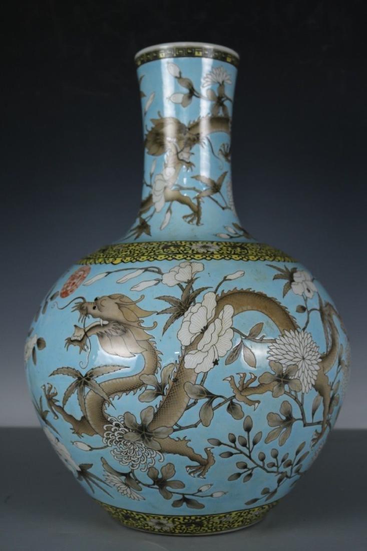 A Famille Rose Porcelain Vase