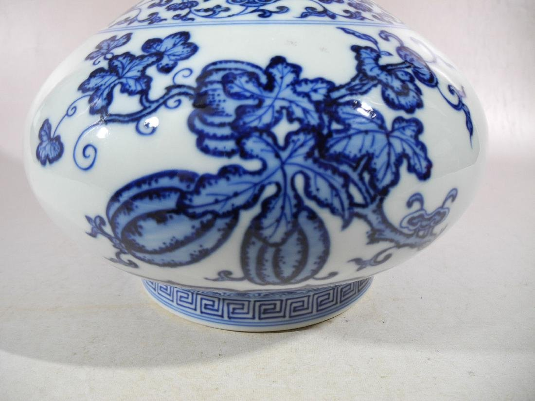 A Blue and White Porcelain Vase - 3