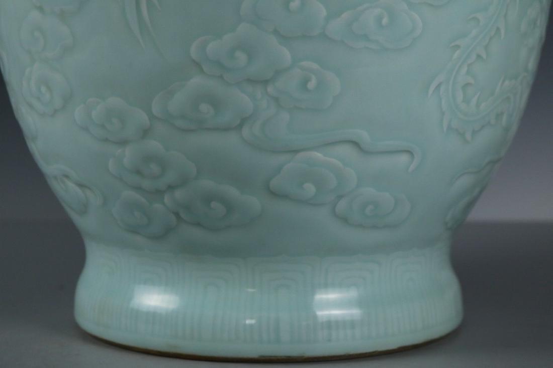 A Celadon-Glazed Porcelain Vase - 4