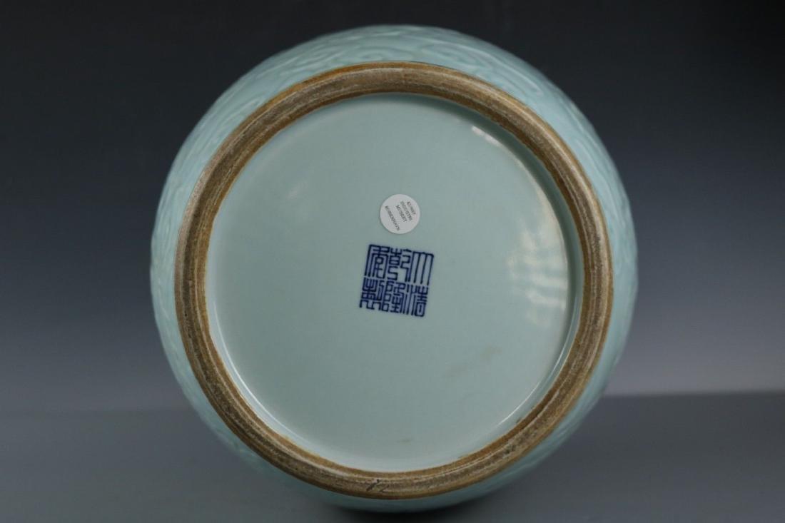 A Celadon-Glazed Porcelain Vase - 9