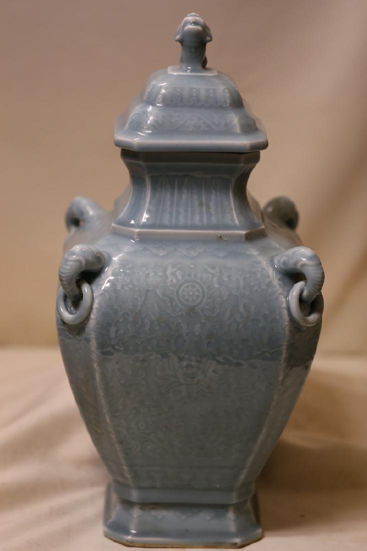 A Magnificent Celadon Porcelain Vase
