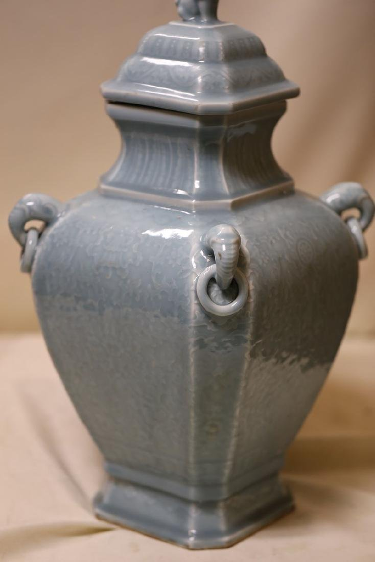 A Magnificent Celadon Porcelain Vase - 2