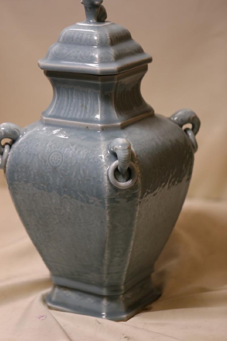 A Magnificent Celadon Porcelain Vase - 4