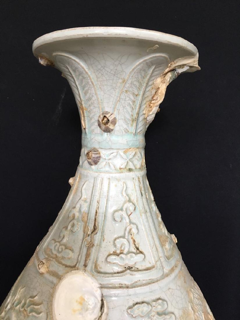 A Celadon Glaze Porcelain Vase - 3