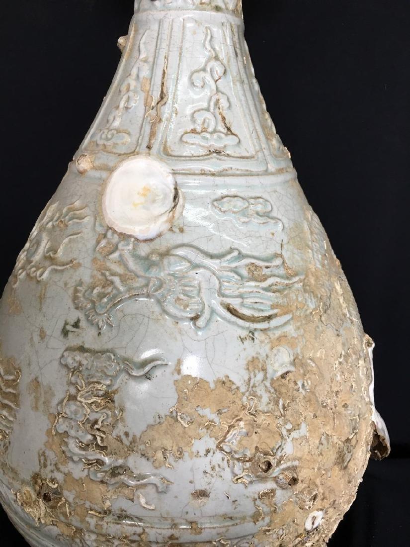A Celadon Glaze Porcelain Vase - 4