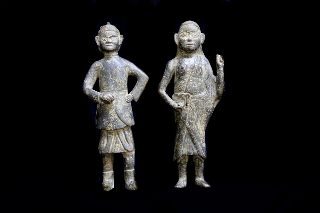 A Pair of Bronze Statues