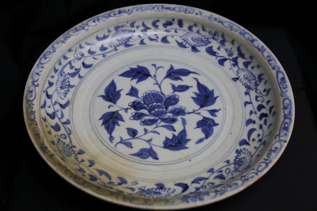 A Blue & White Yuan dish