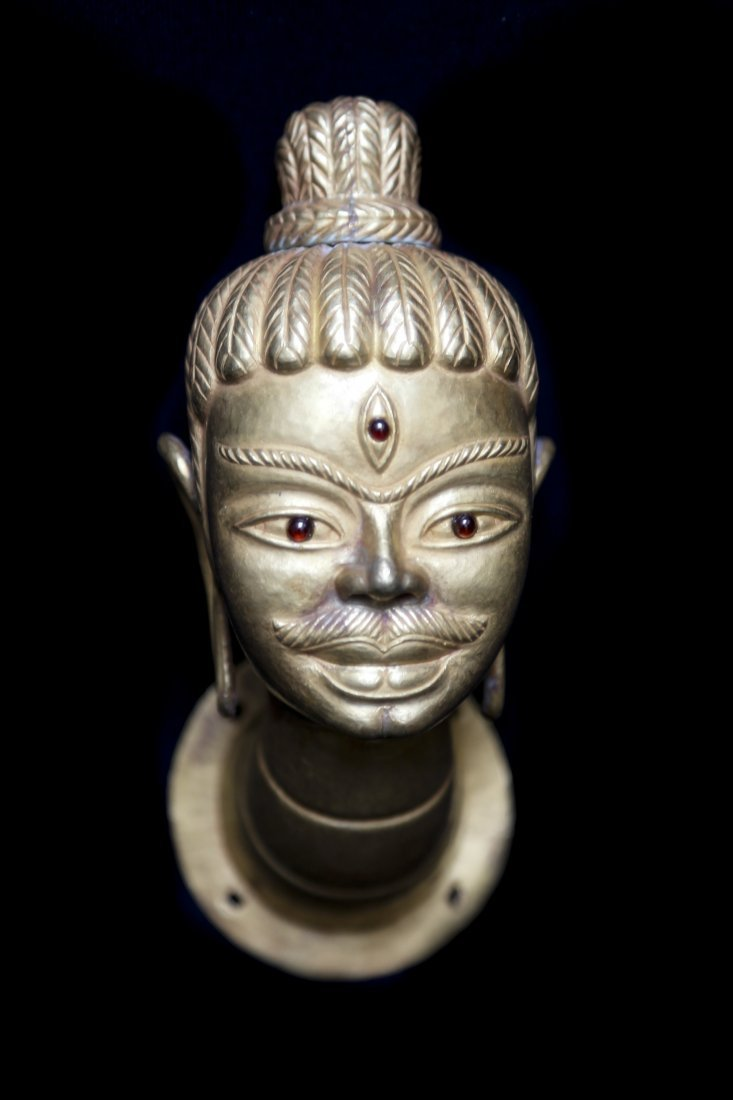 Gold Head of Shiva (lingakosha)