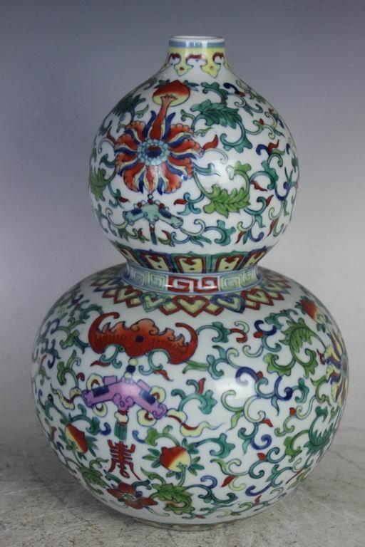 A Doucai Double Gourd Vase