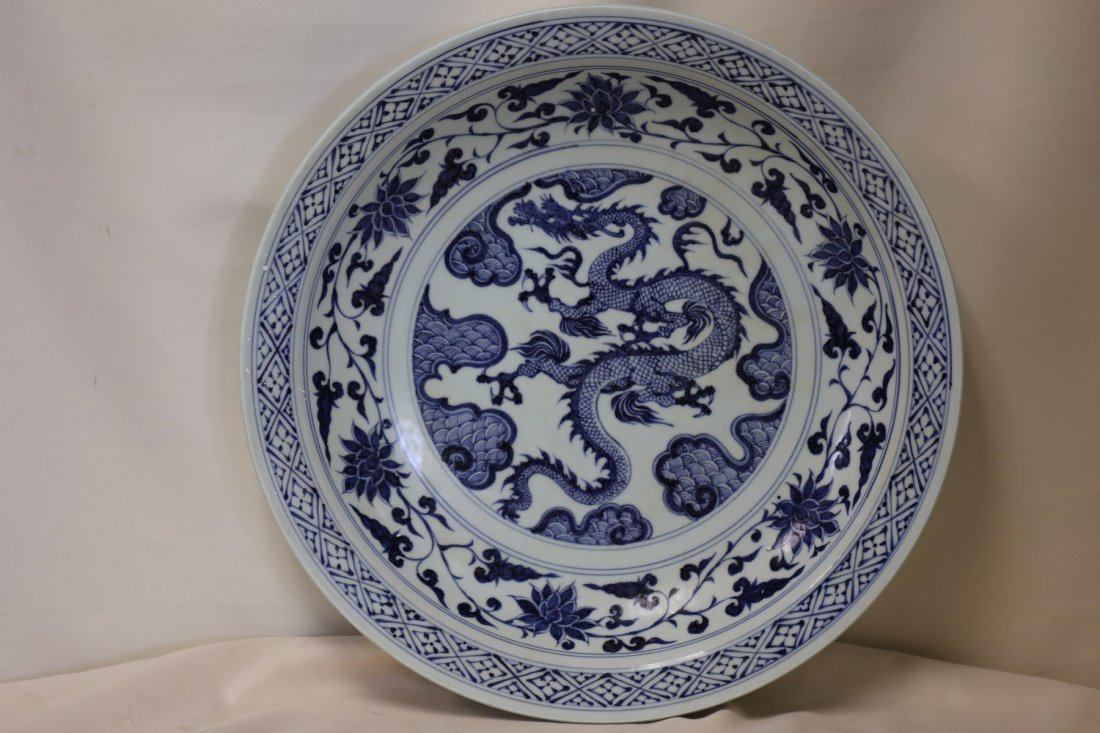 A Magnificent Blue and White Dish