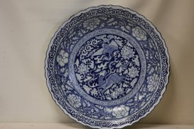 An Exquisite Blue And White Porcelain Dish