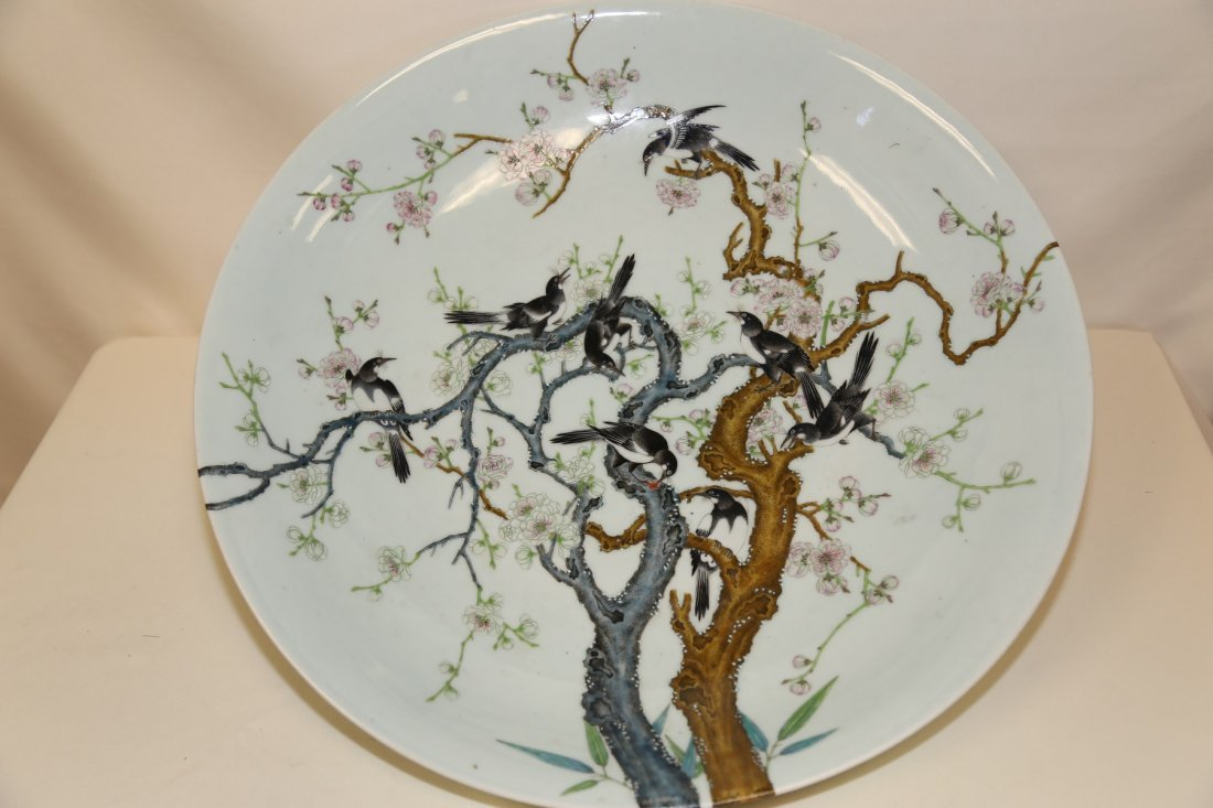 A Magnificient and Extremely Rare Famille Rose Dish,