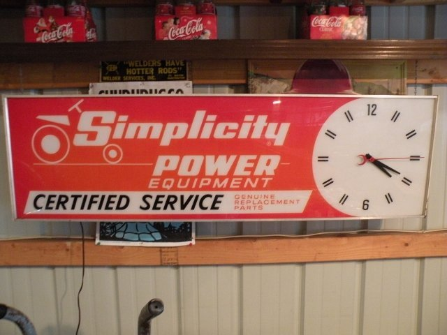 Lighted Simplicity Lawn & Garden Clock Sign