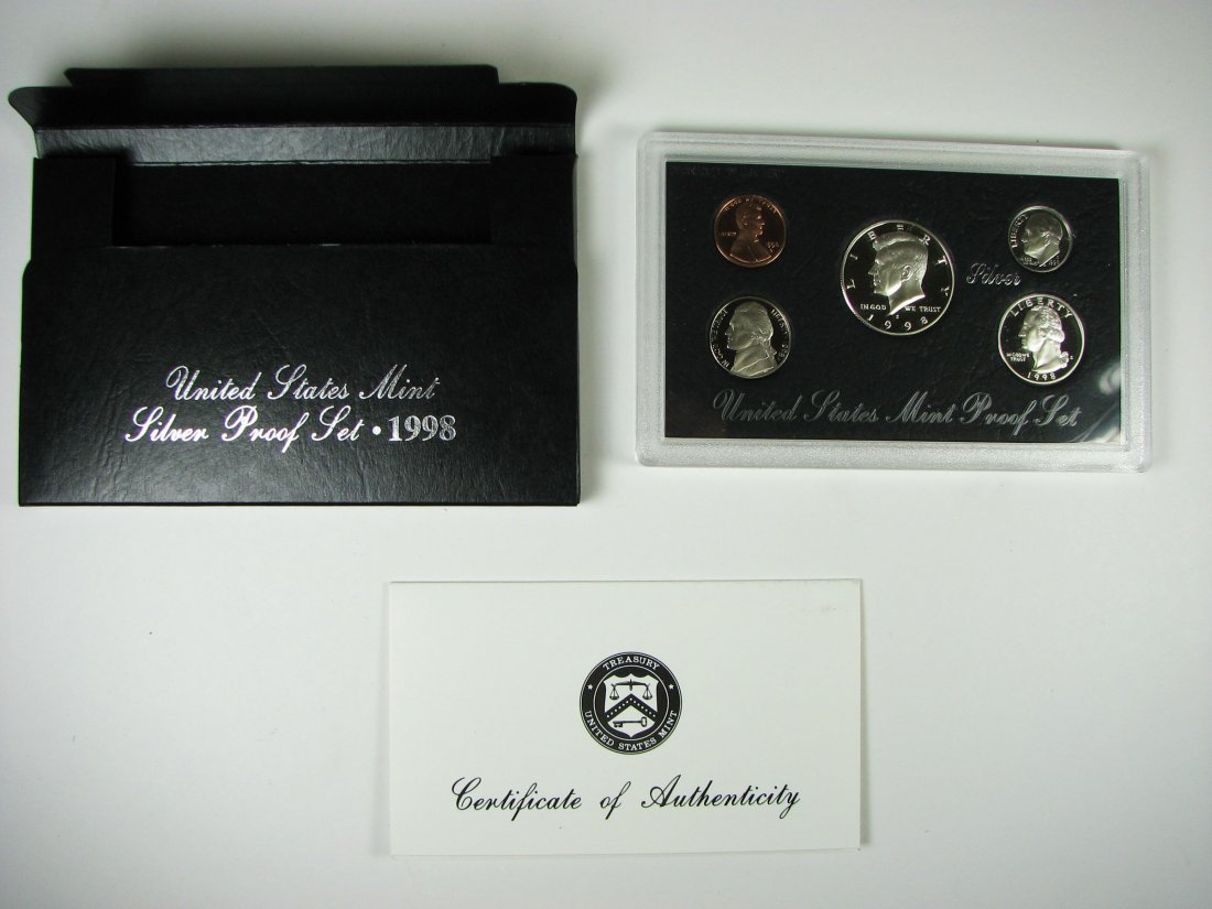 1998 US Mint Silver Proof Coin Set