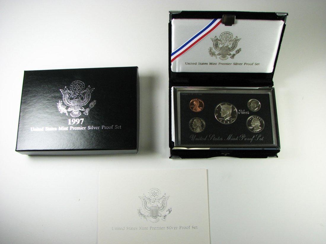 1997 US Mint Premier Silver Proof Coin Set