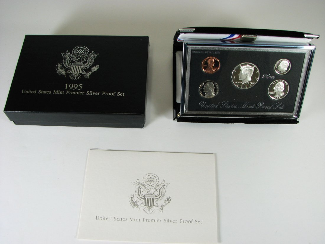 1995 US Mint Premier Silver Proof Coin Set