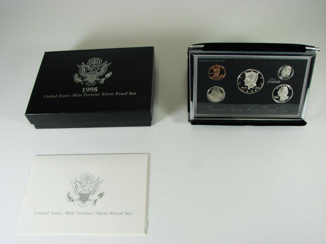 1998 US Mint Premier Silver Proof Coin Set