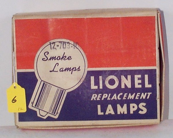 6: 12 Boxed 703-10 18V Smoke Lamps (Overprinted 675-75