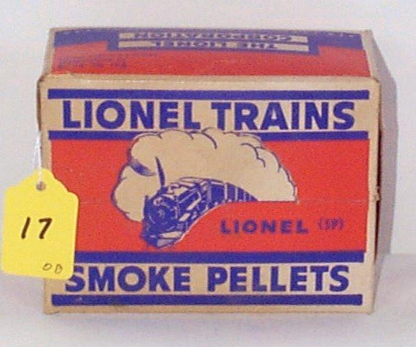 17: 12 SP Orange Label Bottles of Smoke Pellets in Mast