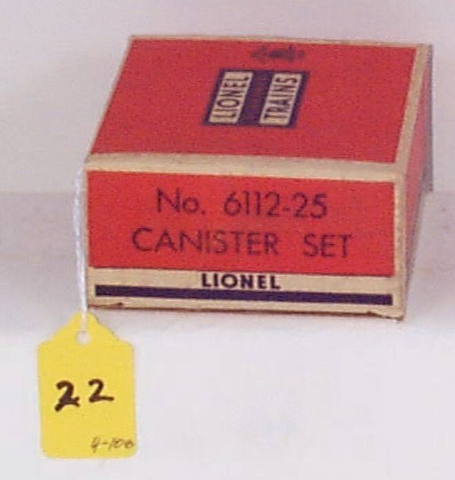 22: 6112-25 Canister Set (4) w/Red/White Lettering, Min