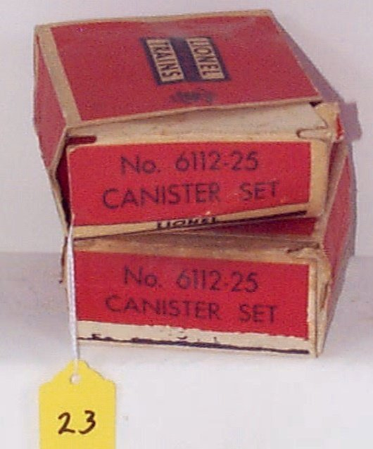 23: Two 6112-25 Canister Sets (4 Each) w/Red/White Lett