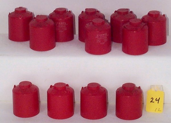 24: 12 Loose Canisters w/Red/White Lettering, VG
