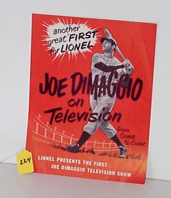 224: Lionel Post War 1950 Four-Page Promo Folder Joe Di