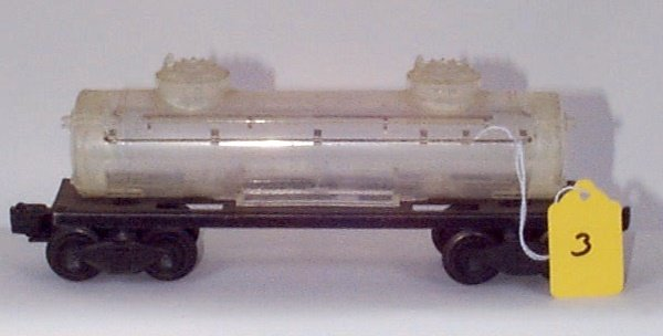 1003: 2465 Clear Plastic Tank Car, No Decals or Letteri