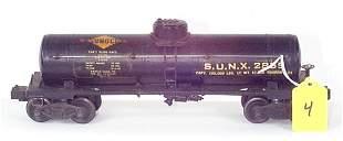 "2855 Black Sunoco Tank Car, Decal w/Large ""S"" & """